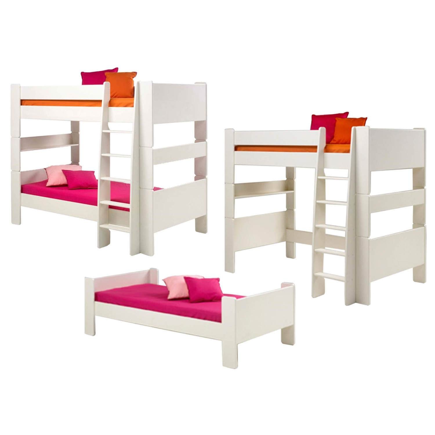 steens for kids extension kit bunk to single and high sleeper in white furniture123. Black Bedroom Furniture Sets. Home Design Ideas