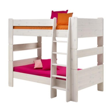 Steens  For Kids Continental Single Bunk Bed In Whitewash