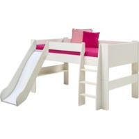 Steens  For Kids Continental Single Mid Sleeper With Slide In Whitewash