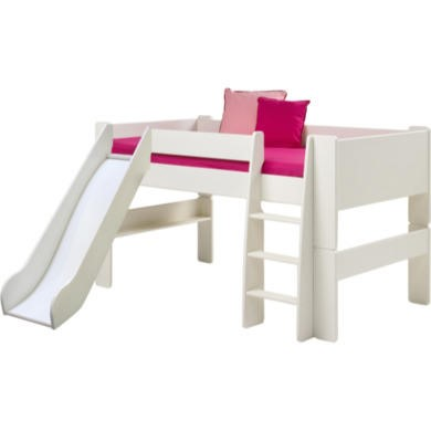Steens  For Kids Continental Single Mid Sleeper With Slide In White