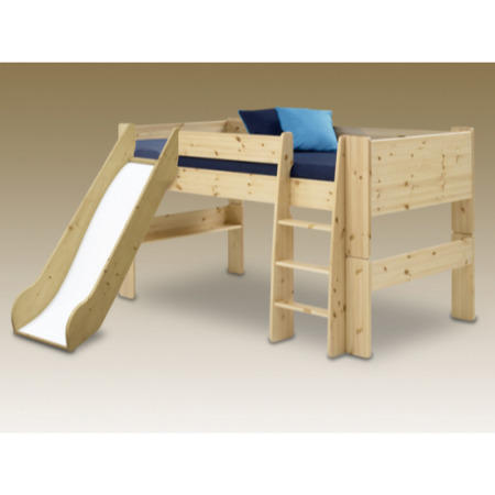 steens for kids continental single mid sleeper with slide in pine furniture123. Black Bedroom Furniture Sets. Home Design Ideas