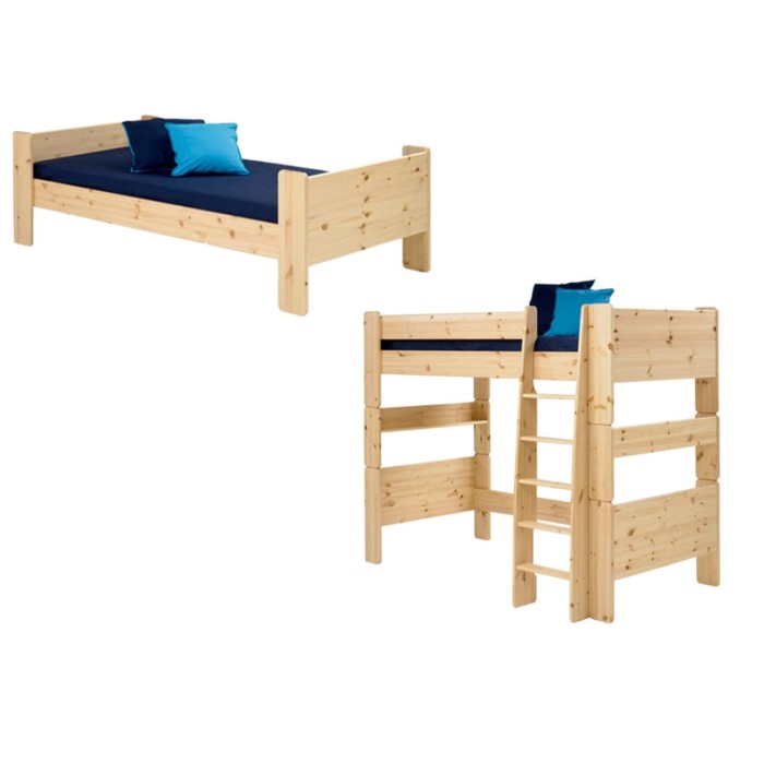 steens for kids extension kit single bed to high sleeper in pine furniture123. Black Bedroom Furniture Sets. Home Design Ideas