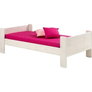 Steens  For Kids Continental Single Bed In Whitewash