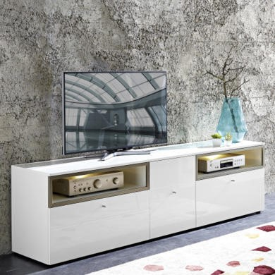 Germania Cadiz White High Gloss TV Unit