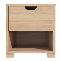1 Drawer Bedside Table with Oak Finish