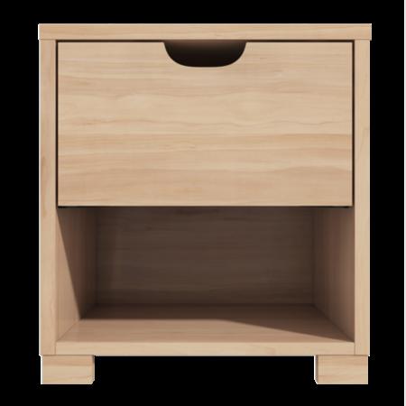 1 Drawer Bedside Table With Oak Finish Furniture123