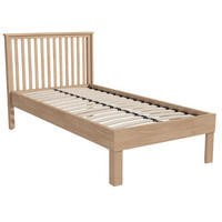 Single Bed Frame With Oak Finish