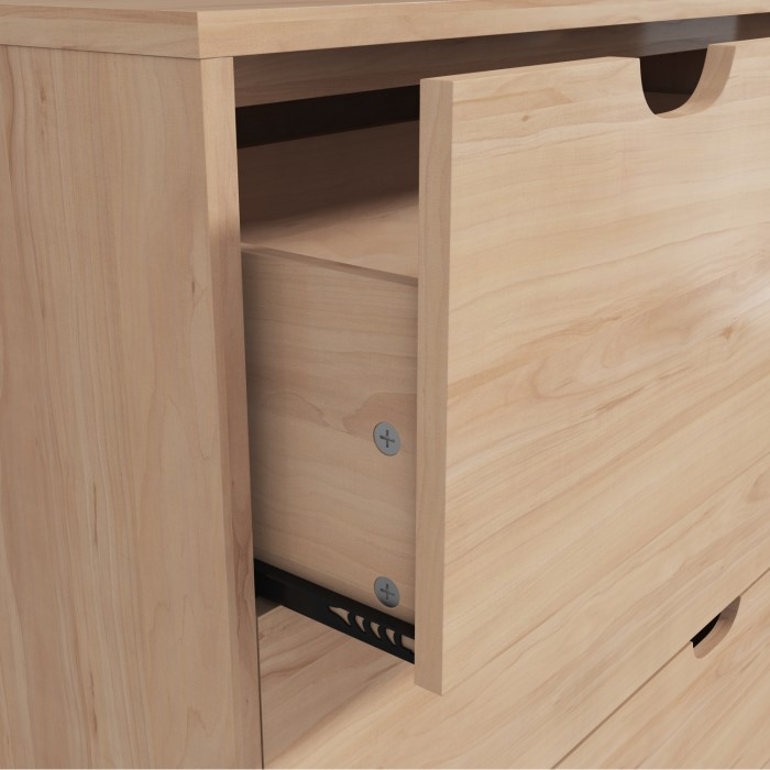 Oak finish wardrobe chest of drawers bedside table for 12 wide bedside table