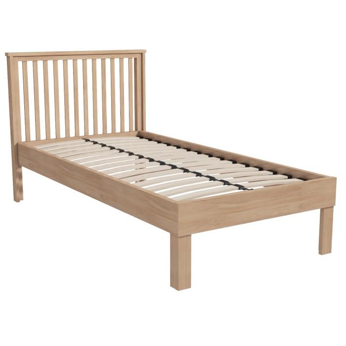 Oak finish wardrobe single bed frame bedside table for 12 wide bedside table