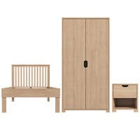 Hunter Wardrobe + Single Bed Frame + Bedside Table