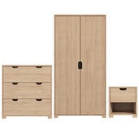 Hunter Wardrobe + Chest Of Drawers + Bedside Table