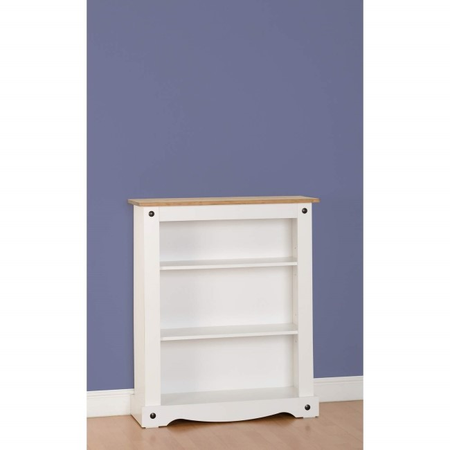 White & Pine Small Bookcase - Corona