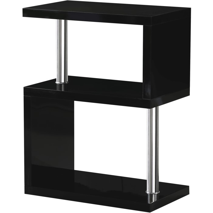 Seconique charisma lamp table in black gloss furniture123 seconique charisma lamp table in black gloss mozeypictures Images