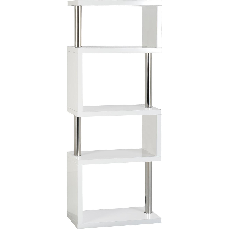 Seconique Charisma 5 Shelf Bookcase Unit In White Gloss Furniture123