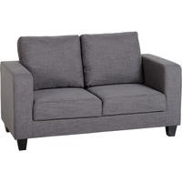 Seconique Tempo Two Seater Sofa in Grey Fabric