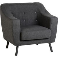 Seconique Ashley Chair in Dark Grey Fabric
