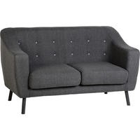 Seconique Ashley 2 Seater Sofa in Dark Grey Fabric