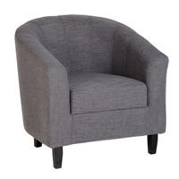 Seconique Tempo Grey Upholstered Tub Chair