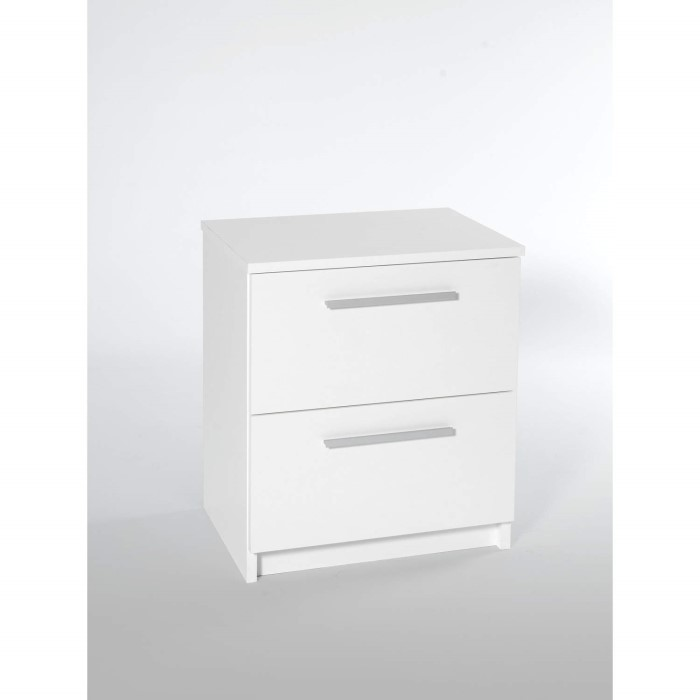 Furniture to go designa 2 drawer bedside cabinet in white for Furniture 2 go