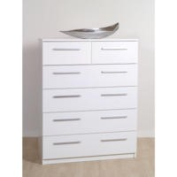 Furniture To Go Designa 4+2 Chest of Drawers in White Ash