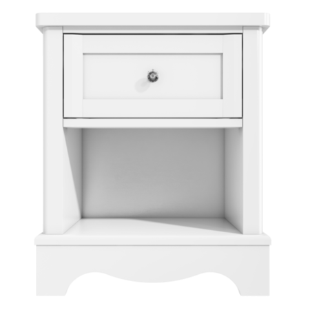 Victoria white 1 drawer bedside table furniture123 for 12 wide bedside table