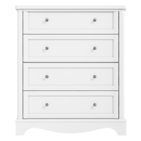 Victoria White 4 Drawer Chest of Drawers
