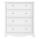 BUN/VICT04/69611 Victoria White 4 Drawer Chest of Drawers