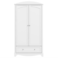 Victoria White Double Wardrobe with Drawer