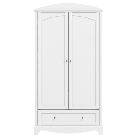 Victoria White Double Wardrobe With Drawer Furniture123