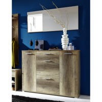 Germania Anna Shoe Cabinet in Oak - 16 Pairs
