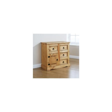 Mountrose monterrey 1 door and 4 drawer small sideboard in for Furniture 123 code