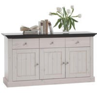 Steens Monaco 3 Door Sideboard In Whitewash