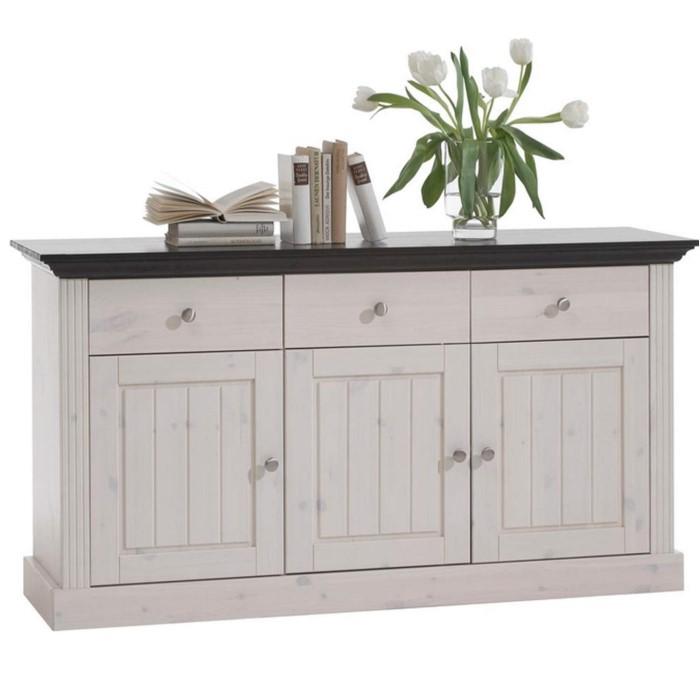 Steens Monaco 3 Door Sideboard In Whitewash Furniture123