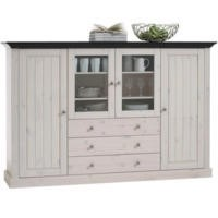 Steens Monaco Display Cabinet In Whitewash
