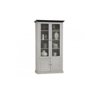 Steens Monaco 22 Tall Glazed Cabinet In Whitewash
