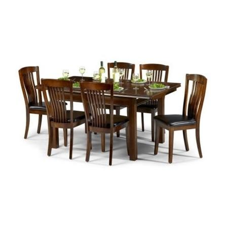 Julian bowen canterbury dining set with 6 chairs for Furniture 123 code