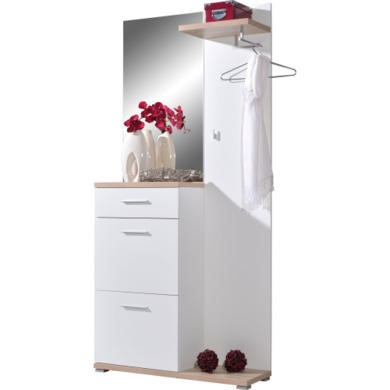 Germania Compact Wardrobe in White and Oak