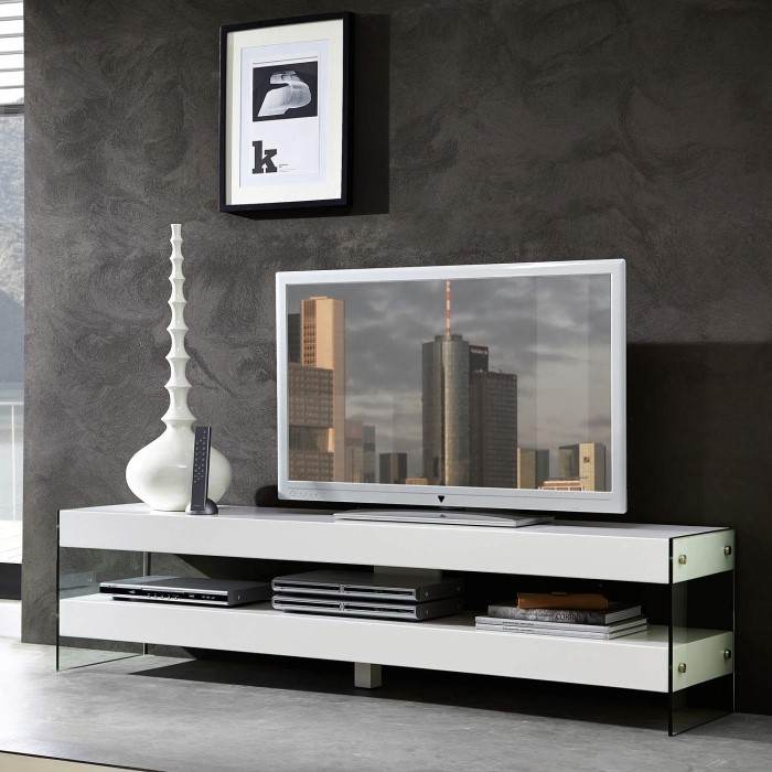 germania cube white low tv unit furniture123. Black Bedroom Furniture Sets. Home Design Ideas