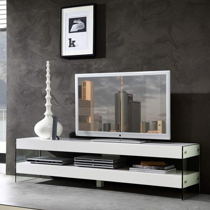 germania cube white low tv unit furniture123. Black Bedroom Furniture Sets. Home Design Ideas