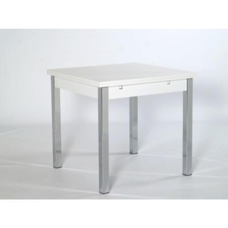 Furniture To Go Designa 80cm Square Extending Table In White Ash