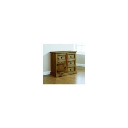 Mountrose monterrey 1 door 4 drawer small sidebord in dark for Furniture 123 code