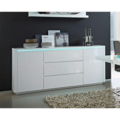 Germania Chicago White High Gloss Sideboard