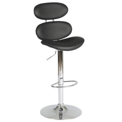 Furniture To Go Designa High Back Gas Lift Black Bar Stool In Black Ash