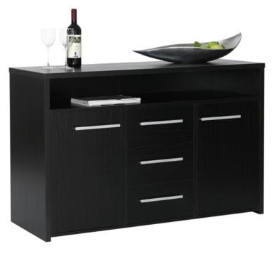 Furniture To Go Designa 3 Drawer 2 Door Sideboard In Black Ash