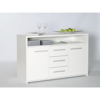 Furniture To Go Designa 3 Drawer 2 Door Sideboard In White Ash