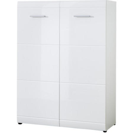 Germania Adana White High Gloss Shoe Storage Cabinet 25