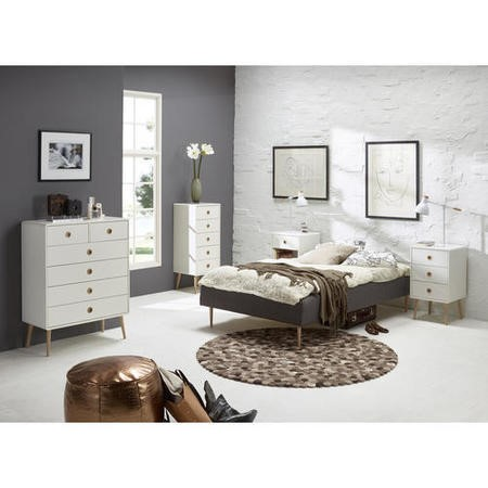 Metro White 3 Drawer Chest