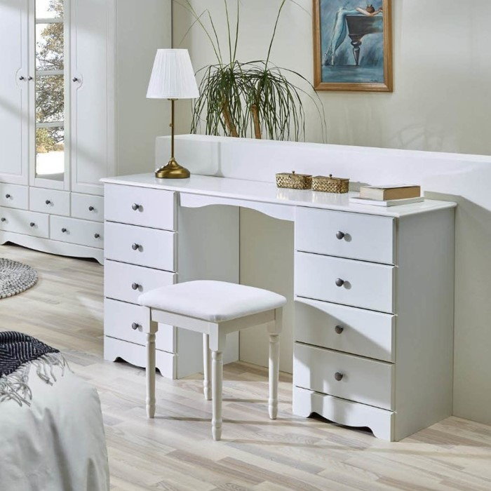 Steens milford dressing table set in soft white furniture123 for Womens dressing table