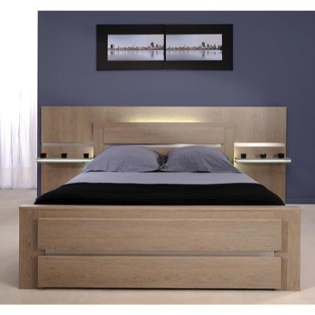 Parisot Shadow Continental Kingsize Bed In Ash Oak Furniture - Parisot bedroom furniture