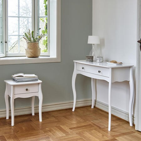 Steens Baroque Dressing Table in White